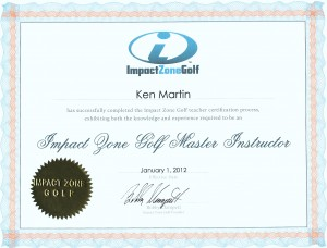 Impact Zone Master Instructor Certificate